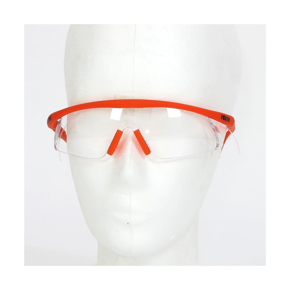 FUXTEC B533 Sicherheitsbrille Klarglas mit Logo