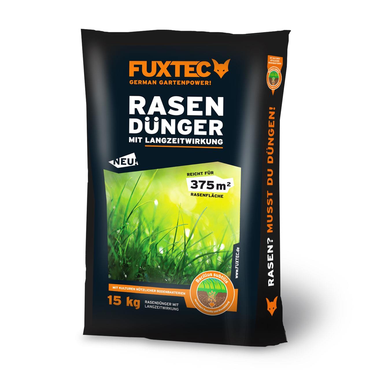 FUXTEC Rasendünger mit Langzeitwirkung 15 Kg