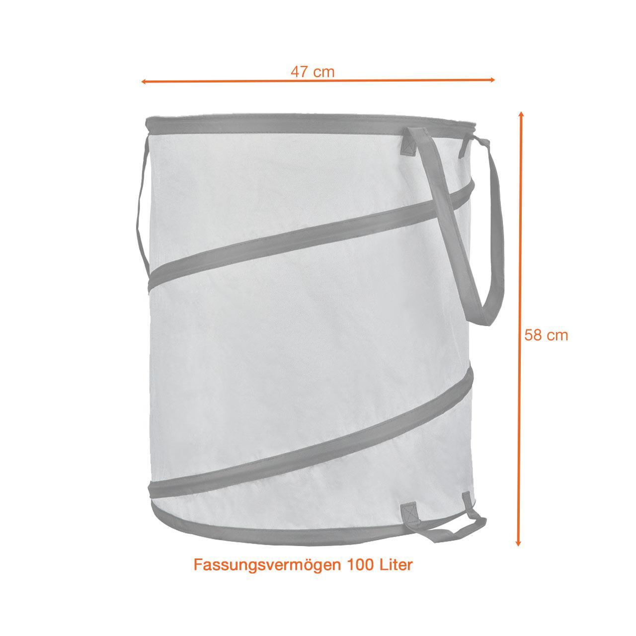 FUXTEC Gartenabfallbehälter FX-GB100 3er Set